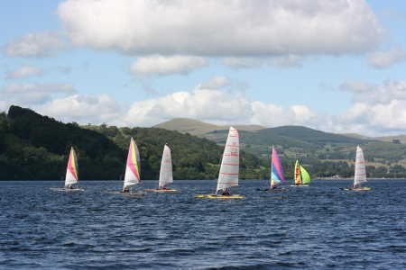 catapult catamaran fleet at Bala