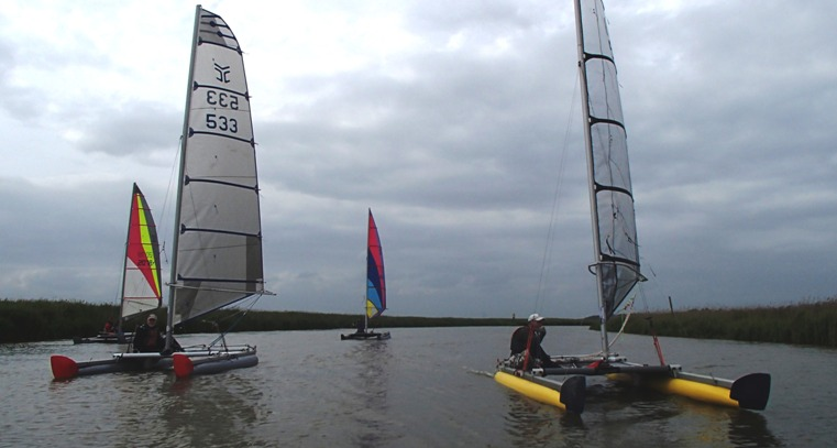 catamarans on the broads